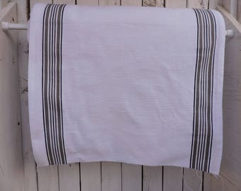 Toweling by the Yard Black white and grey