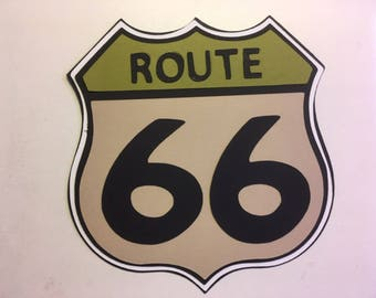 Route 66 Road Sign die cut from Cars