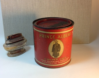 Vintage Prince Albert in the Can Tobacco Can Shabby Rusty Goodness Home Decor Collectible