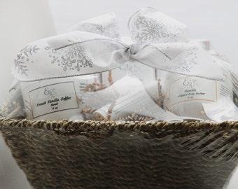 Pamper Bath Gift Set - Mom Gift, Sister Gift, Gift for Women, Whipped Body Butter, Organic Scrub, Luxury Soaps, Lotion  Bar