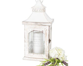 Wedding Unity Candle Holder Lantern with Memorial Saying