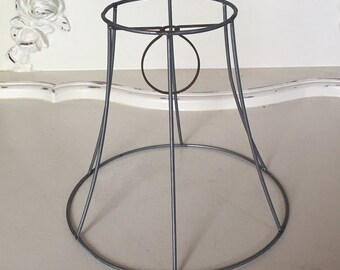 Lamp shade frame etsy small bell shape wire shade frame keyboard keysfo Image collections