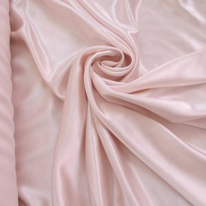 """44"""" wide 100% natural silk charmeuse, light pink silk charmeuse, heavy weight silk, heavy weight pink silk charmeuse, discounted silk fabric"""