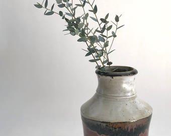 Handmade Vintage Red Glazed Vase