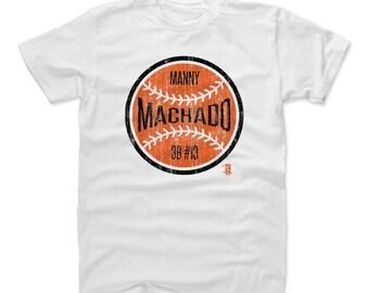 Manny Machado Shirt | Baltimore Baseball | Men's Cotton T Shirt | Manny Machado Ball O