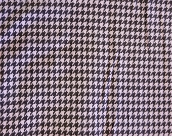Featherwale Corduroy - Pink and Brown Houndstooth Check