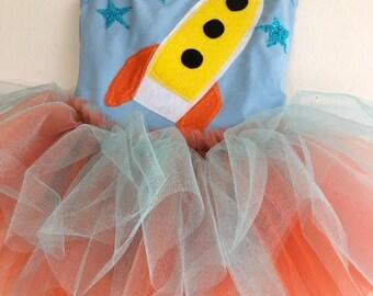 SPACESHIP TUTU - Spaceship Dress - Astronaut Tutu - Astronaut Dress - Space Birthday Party - Astronaut Party