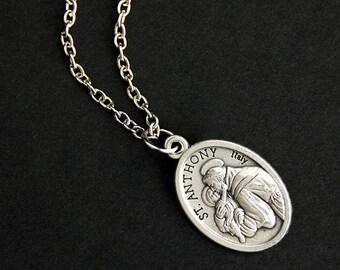 St anthony medal etsy aloadofball Choice Image