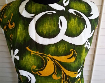 Vintage Hawaii dress, vintage floral dress, vintage dress, vintage hawaii, vintage gown, floral long dress A12