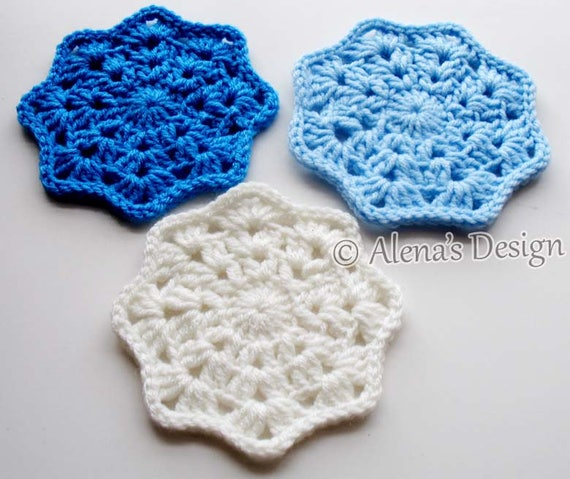 Coaster Crochet Pattern 190 Lace Octagon Coaster Crochet Patterns Crochet Flower Motif Coaster Pattern Home improvement Christmas Gift Party
