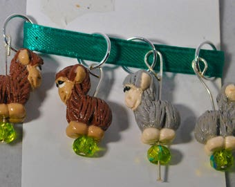 Alpaca Stitch Markers Set of 4