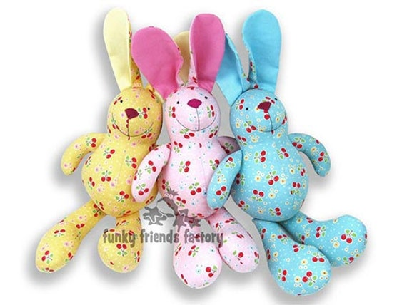 Baby Bunny Plush Toy Rabbit Sewing Pattern PDF