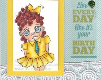 2208 Franny Freckles Digi Stamp