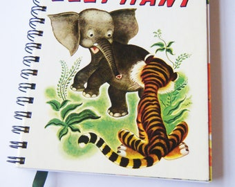 Diary/Journal/Notebook - The Saggy Baggy Elephant recycled Little Golden Book