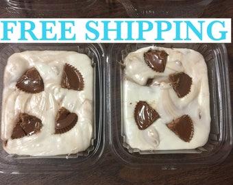 Free Shipping, White Chocolate Reese's Cup Fudge, Creamy Fudge