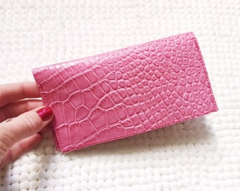 Leather Checkbook Cover / Handmade