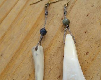 Bone & Gemstone earrings