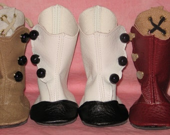 Victorian styled boot pattern for American Girl Dolls and other 18 inch dolls