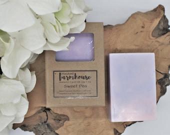 Sweet Pea - Bar Soap - Goats Milk - All Natural - Farmhouse - Fresh  - Natural Soap - Sweet Pea Goats Milk Soap - Handmade Soap - Floral