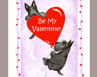 Scottish Terrier Valentine Card