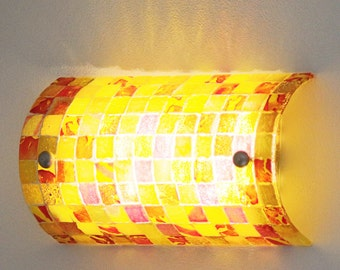 Fused Glass Wall Sconce. Mosaic Design Lighting. Lighting sconce. Living room lights. Wall lamp.