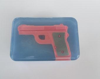 Pink Gun Soap, women's handgun