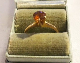 Vintage 10k gold topaz ring