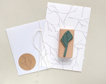 Branch Stamp | Sprig  | Bough | Floral stamp | Stamps | Abstract Stamp | Eco-friendly Stamp | Christmas Stamp | Rubber Stamp | Wood Mounted