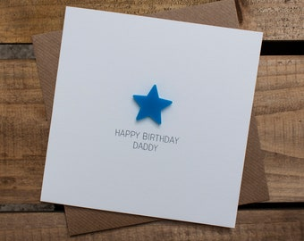 HAPPY BIRTHDAY DADDY with detachable magnet keepsake