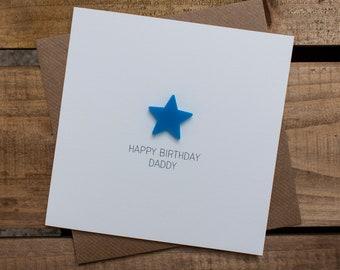 HAPPY BIRTHDAY DADDY with detachable magnet keepsake