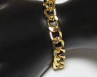 Chaîne Bracelet - gros maillons Bracelet - argent or ou Gun métal gris - chaîne Chunky déclaration bijoux