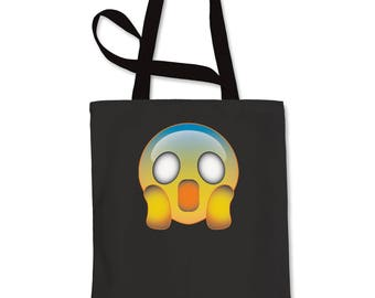 Color Emoticon - Ghost Smile Shopping Tote Bag