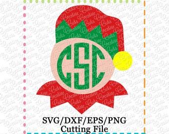 EXCLUSIVE Elf Monogram SVG Cut File, elf cut file, elf svg, Christmas svg, elf monogram svg, elf cut file LIMITED commercial use