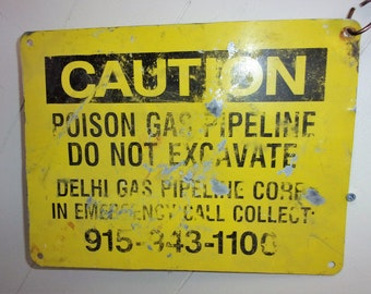 Vintage Caution Sign