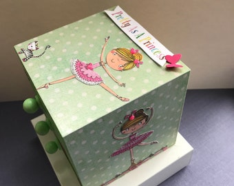 Decoupaged 3 Drawer mini chest