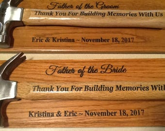 Lighter Plaque w/Engraved Hammer-Personalize-Father's Day, Birthday/Anniversary/Wedding/Recognition/Groomsman/Retirement Gift/Present, Award