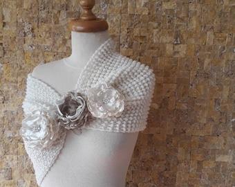 Wedding accessories, wedding shawl, bridal accessories, bridal shawl, wedding shawl knit knitted shawl, womens shawl,  wedding READY TO SHIP