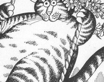 Bernard Kliban Cat Art Book Print