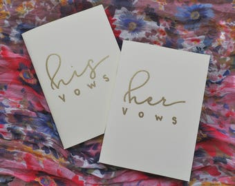 his & her vow books