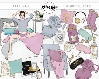 Home Body clip art | Digital Art | Marble and glitter