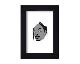 4 x 6 Framed Snoop Dogg / Snoop Lion Portrait
