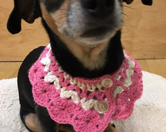 Rattling Bell Puppy Circle Scarf, Jingling Bells Pet Collar, Dog Scarf, Pet Apparel, Dog Outfit, Handmade Cat Dog Clothing