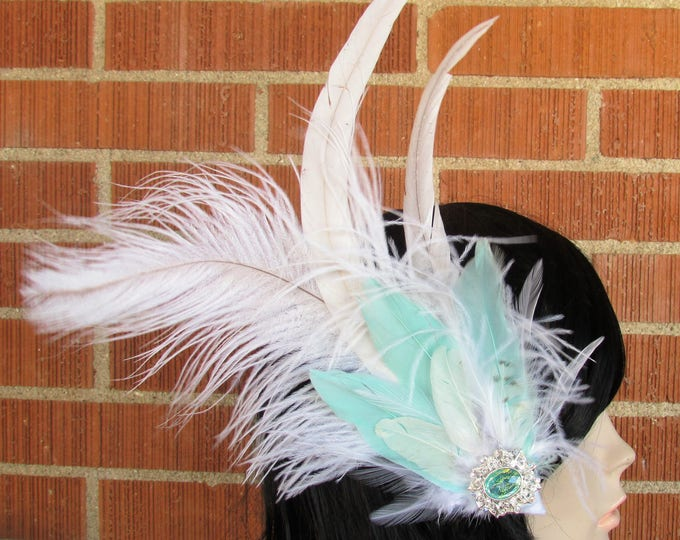 Feather Hair Clip, Feather Headpiece, Feather Fascinator, Wedding Hair Piece, Wedding Fascinator, Wedding Hair Clip, Bridal Headpiece