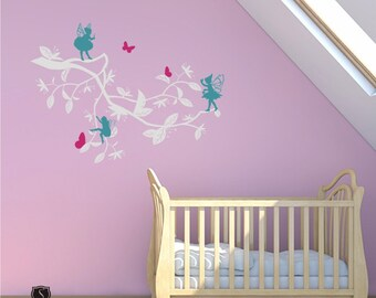 Nursery Wall Decals Enchanted Garden (Medium) - Vinyl Wall Stickers Art Custom Home Decor