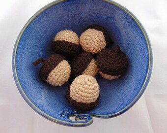 Crocheted Acorns (Set of 6)