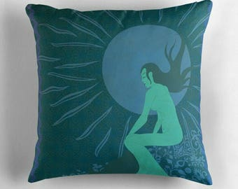 Luna the Moongirl © hatgirl.de |  Living room cushion with cover