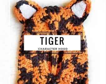 Tiger Hood: Tiger Costume, Toddler Costume, Hooded Scarf, Cowl, Hood Costume, Montessori, Confidence Hoods, Character, Social Skills, Tigger