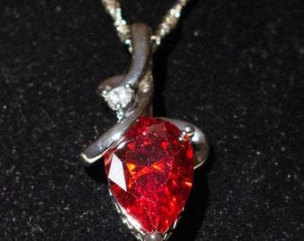 Red Zircon Necklace