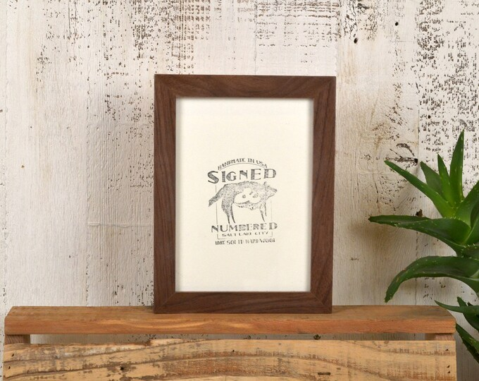 """5x7"""" Picture Frame in PeeWee Style with Natural Walnut Finish - IN STOCK - Same Day Shipping - Gallery Frame 5 x 7 Solid Hardwood"""