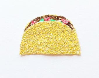 Glitter taco hair clip OR headband / Cinco de Mayo/ Taco Tuesday